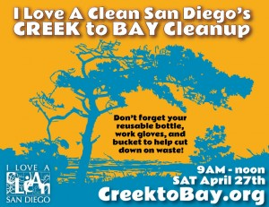 Creek to Bay Cleanup Poster