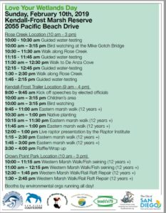Schedule of activities image