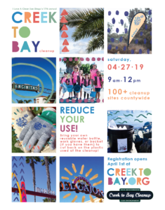 Image of Creek to Bay Cleanup Flyer