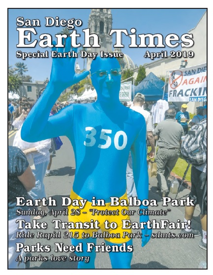 Photo Cover of San Diego Earth Times April 2019