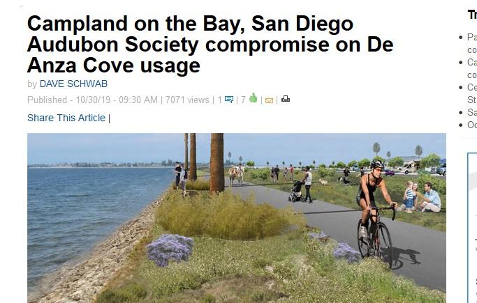 Screen shot of Beach & Bay Press Article