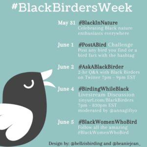 Image of Black Birders Week Schedule
