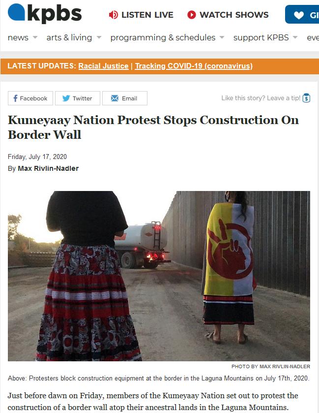 Screen shot of KPBS Article