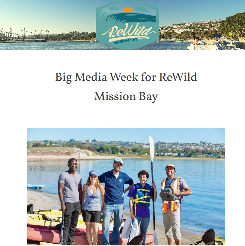 Screen shot of ReWild Mission Bay Blog Post