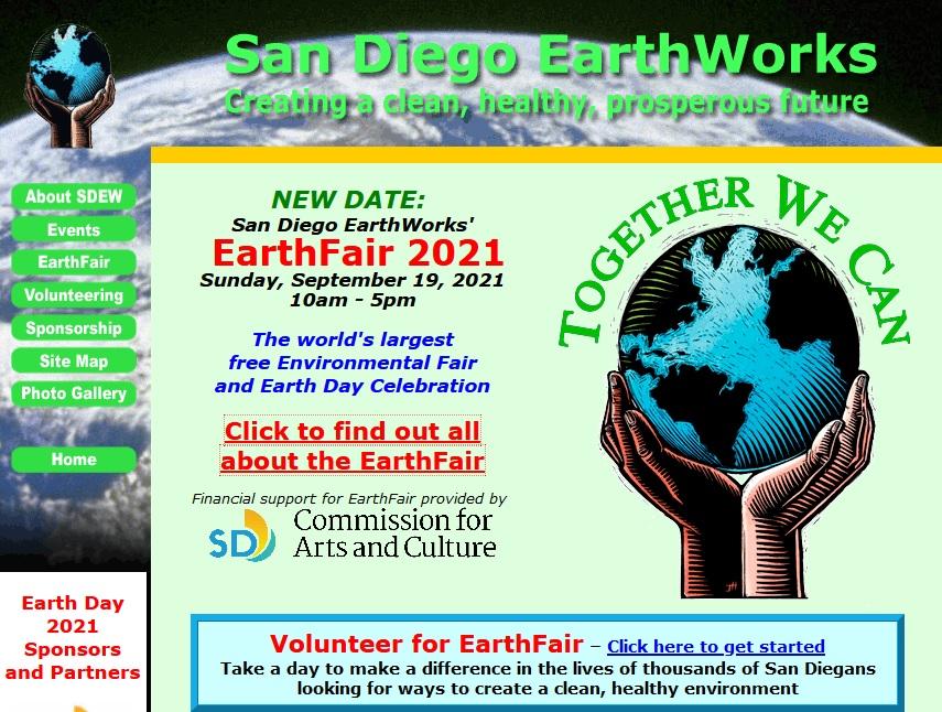 screen shot of EarthDayWeb.org
