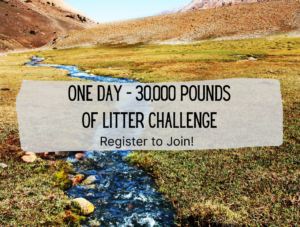 Image of one day trash challenge photo with creek in San Diego foothills