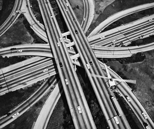 Photo of four-level freeway in Los Angeles