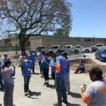 Photo of volunteers eating ice cream